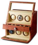 Visualización automática de madera del reloj de la alta calidad