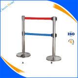 Aéroport Metal Retractable Belt Queue Pole Barriers Gate