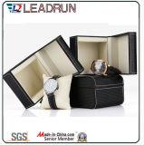 Hölzerne Uhr-verpackenkasten-Samt-ledernes Papier-Uhr-Speicher-Fall-Uhr-Verpackungs-Geschenk-Bildschirmanzeige-Verpackungs-Kasten (YS195)