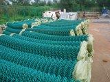 工場直売PVC上塗を施してあるチェーン・リンクの塀かダイヤモンドワイヤー
