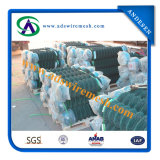 frontière de sécurité enduite de maillon de chaîne de PVC de 3.5mm/4.5mm 50X50mm