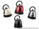 Piccola caldaia elettrica lucida dell'acciaio inossidabile degli apparecchi di cucina per la casa e l'hotel