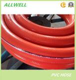 Belüftung-gewundene Stahldraht-flexible verstärkte Sprung-ausbaggernde Garten-Wasser-Plastikschlauchleitung