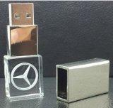 고품질 선전용 아크릴 USB 섬광 드라이브 3D에 의하여 주문을 받아서 만들어지는 로고를 가진 최신 엄지 드라이브