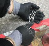 Gant de travail de sûreté avec le plongement extrafin de nitriles de mousse (N1567)