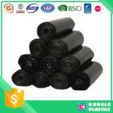 Sacchetto di immondizia nero resistente del polietilene di densità bassa