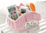 Boîte de rangement élégante en tissu et en dentelle, Boîte de rangement pour ordinateur, Rattan Weave Storage Basket