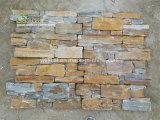 Impiallacciatura di pietra naturale di colore della quarzite arrugginita di superficie spaccata dell'ardesia