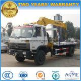 Dongfeng 4X2 트럭을 적재하는 10 톤에 거치되는 기중기 5 톤 XCMG 지브