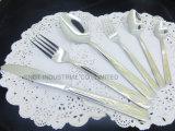 Couverts en gros de vaisselle de vaisselle plate d'acier inoxydable de couverts d'or