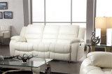 Canapés en cuir rabattable à la couleur blanc