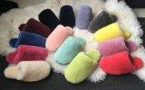 100% reale Schaffell-Pelz-Ausgangsschuhe für Frauen und Männer