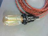 Fio antigo nostálgico da lâmpada com os bulbos E27