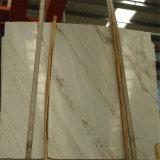 Marmi e mattonelle di marmo bianchi popolari di Classico della galassia con il disegno delle mattonelle della stanza da bagno