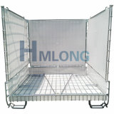 Entrepôt de stockage de fil d'empilage pliables cages métalliques de pliage