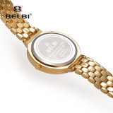 Belbi Uhr-Form-kleiner Vorwahlknopf-ultradünnes Uhr-Diamant-Ineinander greifen mit wasserdichter Legierungs-Quarz-Uhr