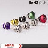 Hban 16mm de alto jefe Pulsador de metal con luz LED