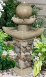 Vintage Rock Look Polyresin jardin extérieur Fontaine à eau W/VOYANT LED