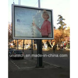 Outdoor Aluninium Frame Mega Publicité LED Sign Pole Light Box