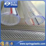 Boyau de jardin flexible renforcé par plastique d'irrigation de l'eau de boyau de PVC