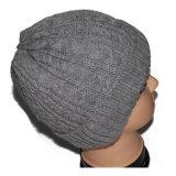 도매 회색 남자 베레모 무능력자 Flexfit 뜨개질을 하는 모자