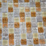 Azulejo nuevo diseño de cristal de cristal azul de la mezcla de metal decoración de la pared Mosaico Mosaico