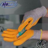 Le latex ondulée Nmsafety paume enduite Gant de travail résistant aux coupures