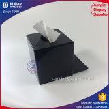 Doos van het Servet van de Verkoop van de fabriek de Directe Zwarte Acryl