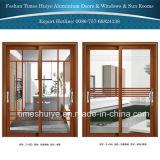 Perfil de alumínio das portas com projeto de estrutura para a porta interior