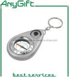 Porte-clés en acrylique avec boussole avec logo personnalisé