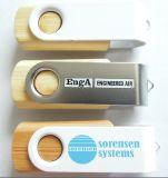Бамбук поворотного флэш-накопитель USB (АПН-003П)