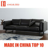 Divan sectionnel de sofa de Seater du premier des graines de Brown de couleur cuir 3 de Nappa