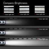 Haut qualité 4 rangée 22 pouces voiture barre lumineuse à LED étanche Offroad barre lumineuse à LED incurvée