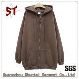 Maglione superiore di Hoody di svago dei vestiti di vendita con la chiusura lampo