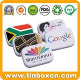 Food Grade de caramelos de metal rectangular caja de embalaje latas de goma