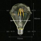 D95 de Uitstekende LEIDENE Gloeilamp van de Gloeidraad, Zacht Wit 2700K, 60W Gloeiend Equivalent