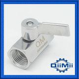 """Valvola a sfera dell'acciaio inossidabile di SS304/SS316L Fnpt mini 1/4 """" con la maniglia di plastica"""