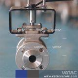 Pneumatic Wcb de acero fundido/RF Lcb Puerto de la V de brida Válvula de bola