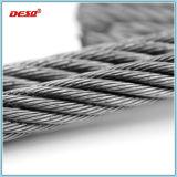Corde galvanisée du fil d'acier 6*36 d'IMMERSION chaude