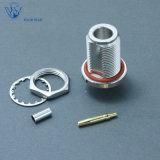 Koaxialn Verbinder weiblicher Schutzwand-Falz HF-für Kabel Rg142