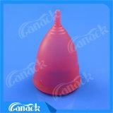 新しいデザイン再使用可能な医学のシリコーンの物質的なMenstrualコップ