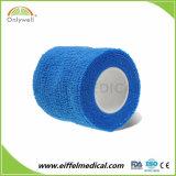 Nichtgewebte Haustier-Sorgfalt Sports selbstklebende Verpackungs-elastischen Bindeverband