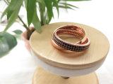 De charmante Vrouwelijke Ring van de Steen van de Verklaring Zwarte CZ op Verkoop