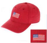 자수 깃발 로고를 가진 주문 형식 육군 야구 모자