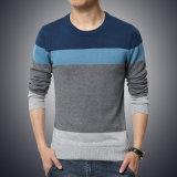 2017의 새로운 가을 겨울 형식 상표 우연한 스웨터 O 목에 의하여 줄무늬로 하는 호리호리한 적당한 뜨개질을 하는 Mens 스웨터 및 스웨터 남자 스웨터 남자 M-5XL