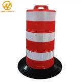 Le trafic réfléchissant portable barrière de sécurité routière du tambour en plastique