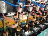 網の溶接装置の工作機械