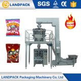 縦の綿菓子の包装機械