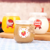 100ml 200 ml 300ml botella de leche/ Budín budín de vidrio de botella o frasco de vidrio/taza de gelatina de yogur/jar