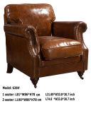 Sofá de cuero antiguo de la sala de estar de la butaca del club (628)